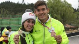 Mariana Pajón y Carlos Mario Oquendo